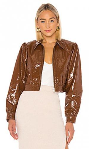 Кожаная куртка paulie LPA. Цвет: коричневый