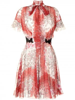 Платье с расклешенными рукавами Giambattista Valli. Цвет: разноцветный