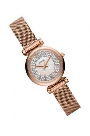 Часы наручные Fossil. Цвет: розовый