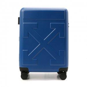 Дорожный чемодан Off-White. Цвет: синий