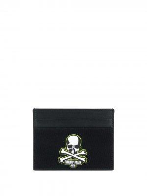 Картхолдер с логотипом и принтом Skull Philipp Plein. Цвет: черный