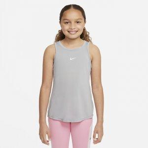 Майка для девочек школьного возраста Dri-FIT One - Серый Nike