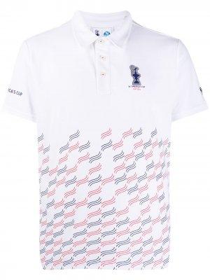 Рубашка-поло Valencia Prada x North Sails. Цвет: белый