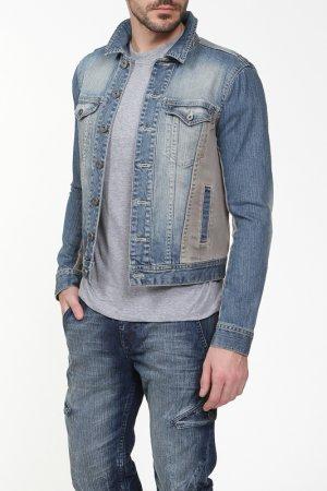 Куртка джинсовая DKNY Jeans. Цвет: синий