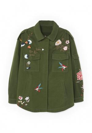 Куртка Mango - JARDI. Цвет: зеленый