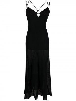 Вечернее платье на бретелях Jacquemus. Цвет: черный