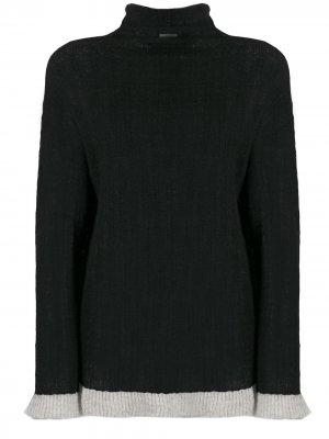 Джемпер с контрастным подолом By Malene Birger. Цвет: черный