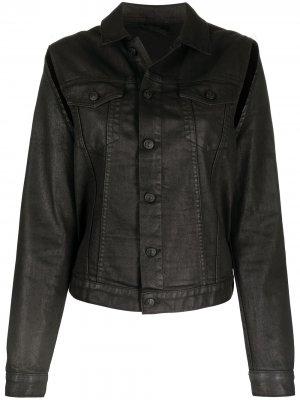 Джинсовая куртка с вырезами Diesel. Цвет: черный