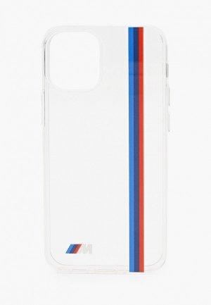 Чехол для iPhone BMW 12 mini (5.4), M-collection PC/TPU Tricolor lines Printed logo Transp. Цвет: прозрачный