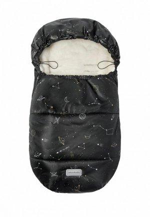 Конверт Amarobaby Snowy Baby Космос, 85 см.. Цвет: черный