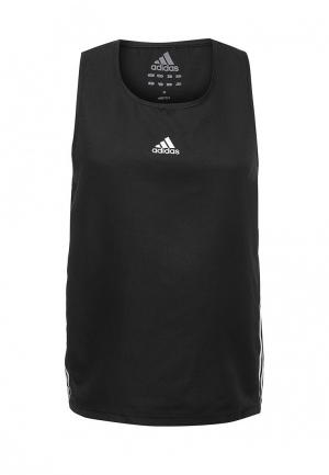 Майка спортивная adidas Combat Micro Diamond Boxing Top. Цвет: черный