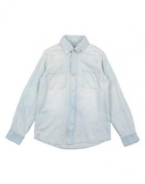 Джинсовая рубашка little PIECES. Цвет: синий