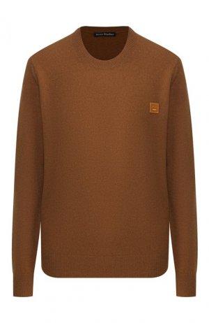 Шерстяной пуловер Acne Studios. Цвет: коричневый
