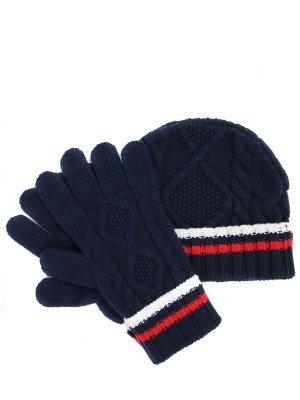 Комплект шапка и перчатки Johnstons. Цвет: разноцветный