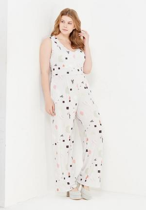 Комбинезон LOST INK PLUS JUMPSUIT IN ABSTRACT PRINT. Цвет: серый