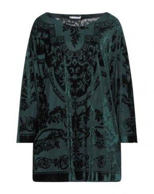 Блузка ELENA MIRO'. Цвет: темно-зеленый