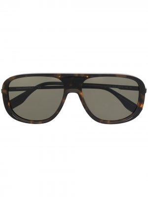 Солнцезащитные очки-авиаторы Urban Koncept Karl Lagerfeld. Цвет: коричневый