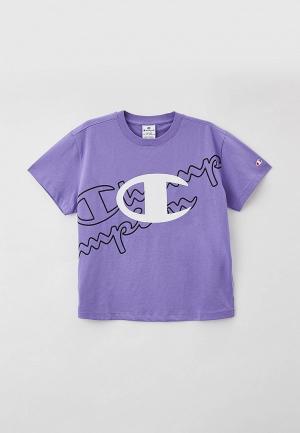 Футболка Champion. Цвет: фиолетовый