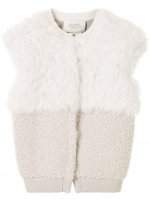Фактурный жилет на молнии Hermès. Цвет: белый