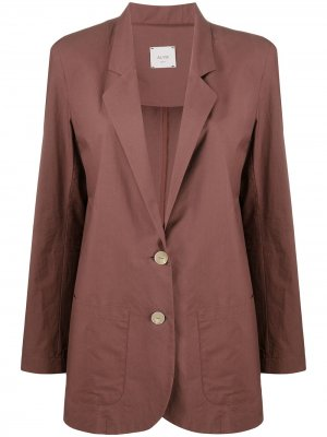 Пиджак прямого кроя Alysi. Цвет: коричневый