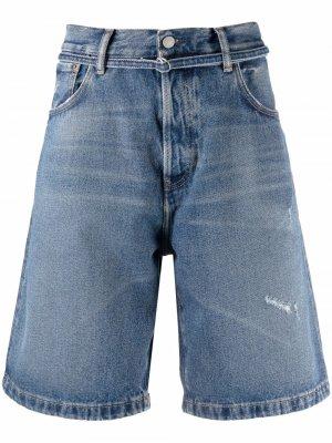 Джинсовые шорты с эффектом потертости Acne Studios. Цвет: синий