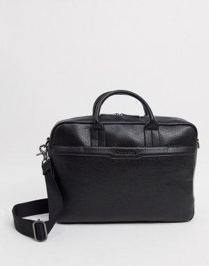 Черная сумка для ноутбука с карманом -Черный Calvin Klein
