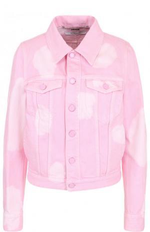 Джинсовая куртка с потертостями Givenchy. Цвет: розовый