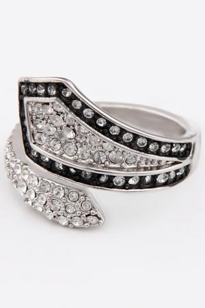 Кольцо Slava Zaitsev. Цвет: серебро, темно-серый