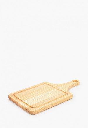 Доска разделочная Svahomeart деревянная, 35х20 см. Цвет: коричневый