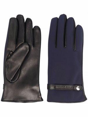 Замшевые перчатки Emporio Armani. Цвет: синий
