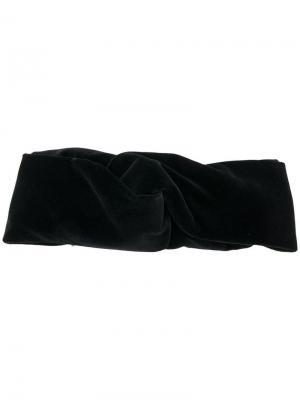 Повязка на голову с узлом Ca&Lou. Цвет: черный