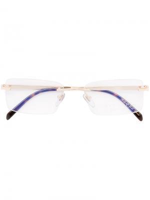 Оптические очки без оправы Bulgari. Цвет: металлический