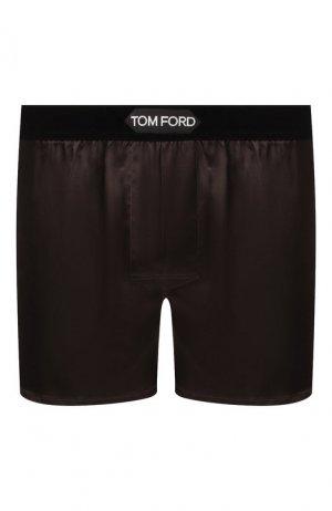 Шелковые боксеры Tom Ford. Цвет: коричневый