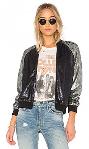 Куртка бомбер the sequin Lovers + Friends. Цвет: синий