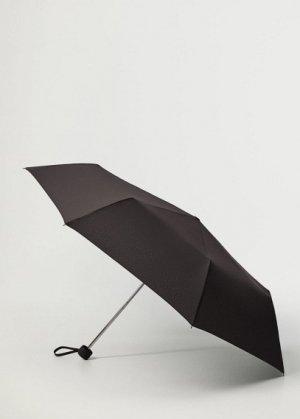 Складной однотонный зонт - Basic Mango. Цвет: черный