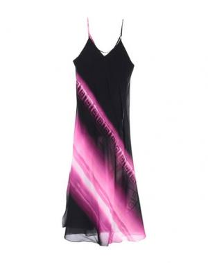 Длинное платье VERSACE COLLECTION. Цвет: черный