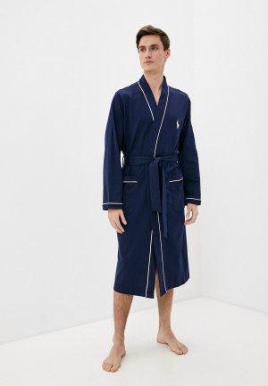 Халат домашний Polo Ralph Lauren. Цвет: синий