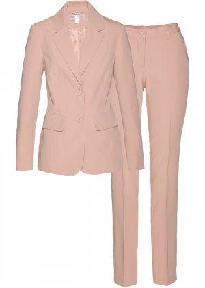 Жакет и брюки (2 изд.) bonprix. Цвет: розовый