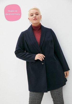 Пальто Dorothy Perkins Curve. Цвет: синий