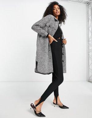 Фактурный удлиненный шакет черного цвета -Черный цвет Vero Moda