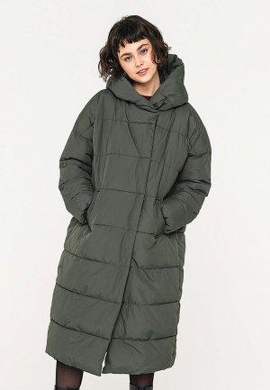 Куртка утепленная Befree. Цвет: хаки