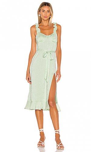 Платье yara LPA. Цвет: зеленый