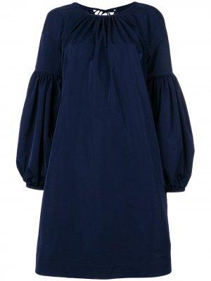 Платье с рукавами клеш Calvin Klein 205W39nyc. Цвет: синий