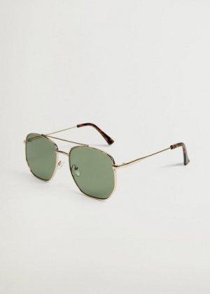 Солнцезащитные очки в стиле ретро - Square Mango. Цвет: хаки