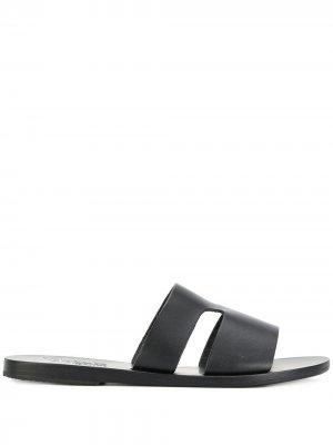 Сандалии на плоской подошве Ancient Greek Sandals. Цвет: черный