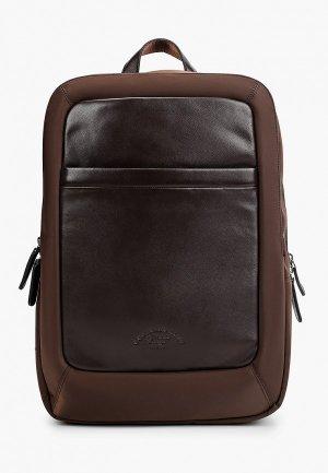 Рюкзак Franco Frego. Цвет: коричневый