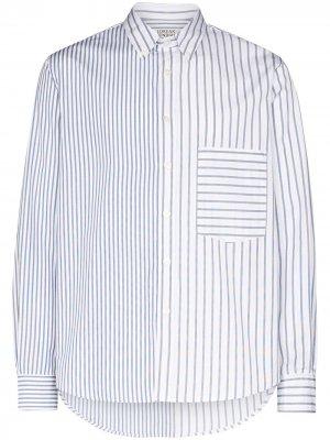 Полосатая рубашка Cruce Loreak Mendian. Цвет: синий