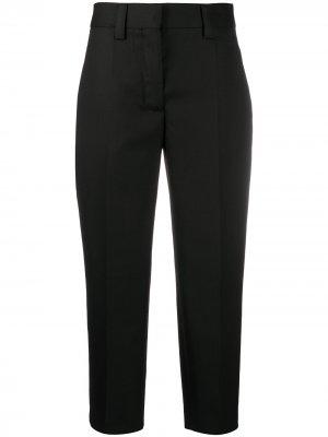 Укороченные брюки строгого кроя Acne Studios. Цвет: черный