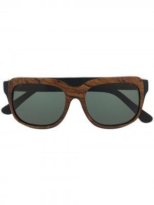 Солнцезащитные очки MM0017 из коллаборации с Maison Margiela Cutler & Gross. Цвет: черный