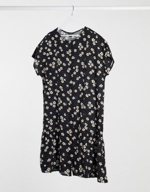Платье с цветочным принтом -Мульти Monki